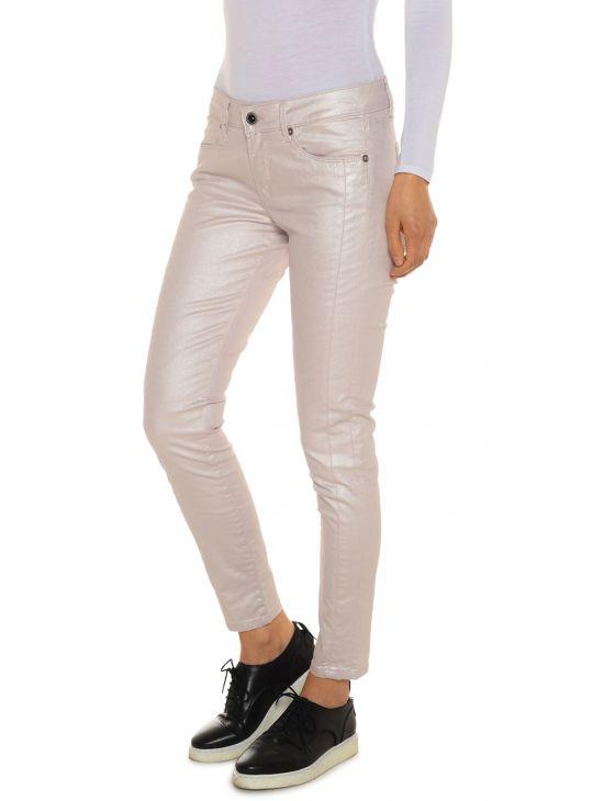 Metalické růžové džíny ke kotníku Pepe Jeans LOLAa